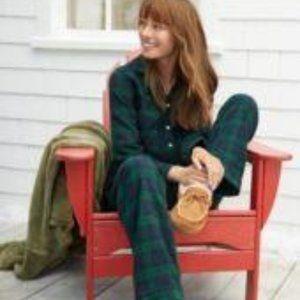 LL Bean Blackwatch Plaid Flannel Pajama Top XLP
